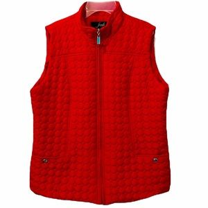 Fresh RED Quilted Sweater Vest, 100% Polyester L